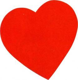 Coeur carton couleur 2 faces rouges de 38 CM